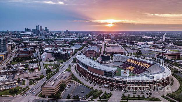 TCF Bank Stadium at Sunset by Habashy Photography