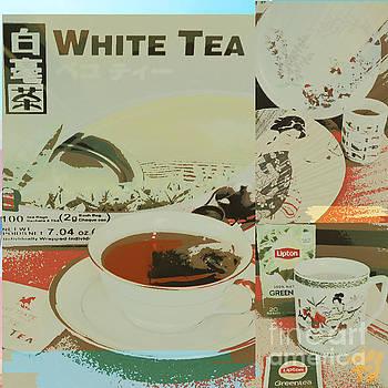 Tea Collage Poster by Karen Francis