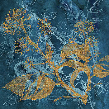 Tina Lavoie - Teal Garden Autumn Botanical art