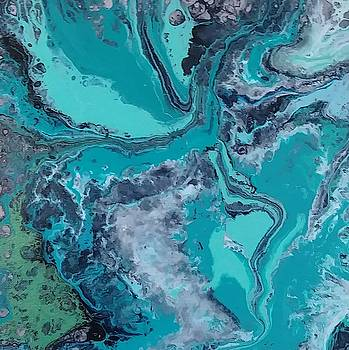 Teal Stream by Stacey Hansen