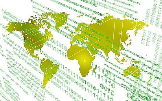 Tech worldmap with binary code by Alberto RuiZ