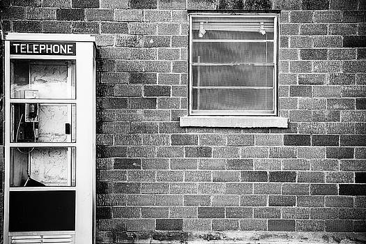 Telephone Booth Black and White by Steven Bateson