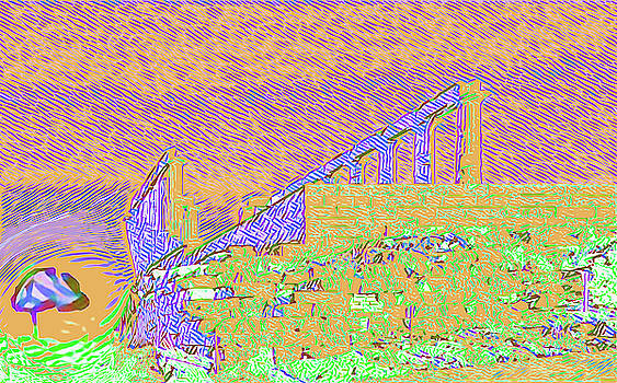 Abstract of the Temple of Poseidon by Nicholas V K