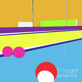 Tennis in Abstraction by Wendy Thompson