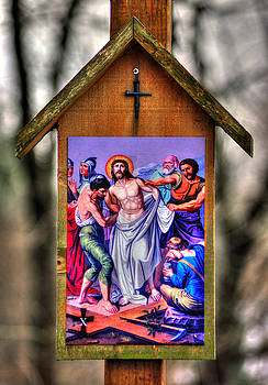 Tenth Station of the Cross - Jesus Clothes are Taken Away - Mark 15, Verses 22-24 by Michael Mazaika