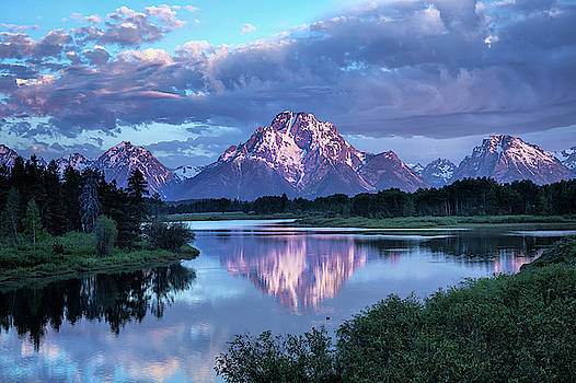 Teton Oxbow Morning 9087 by Harriet Feagin