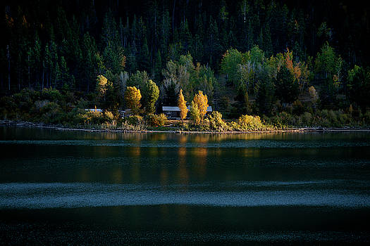 Tetons Lakeshore in Autumn by David Chasey