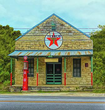 TEXACO Gas Station by Jennifer Stackpole