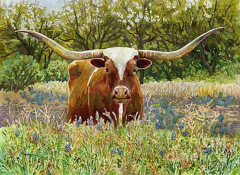 Texas Longhorn by Hailey E Herrera
