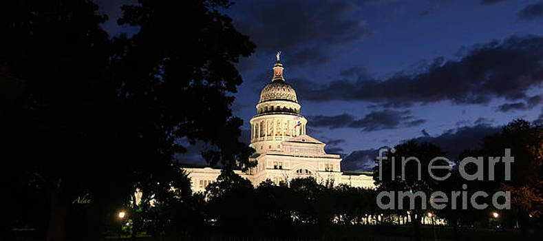Felipe Adan Lerma - Texas State Capital Dawn Panorama