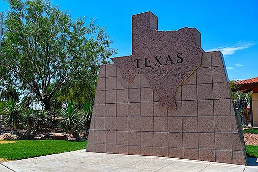 Texas State Shape Plaque  by Chance Kafka