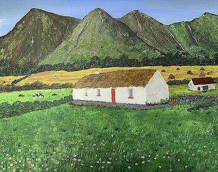 Thatched Cottage In Ireland Painting by Martin Dardis