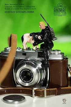 The 1-18 Animal Rescue Team - Pig on old Camera by Martine Carlsen