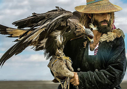 The American Sportsman, Falconry with an Eagle by Thomas Pollart