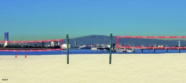 the Beach / Long Beach Ca. by John R Williams