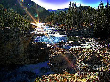 The Beauty Of Elbow Falls, Alberta by Al Bourassa