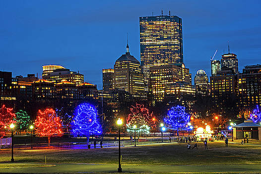 Toby McGuire - The Boston Common Lit up for Christmas New Year