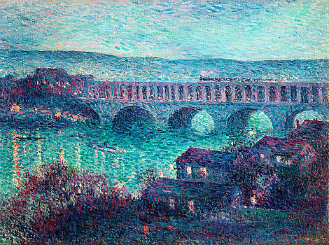 The Bridge at Auteuil by Maximilien Luce