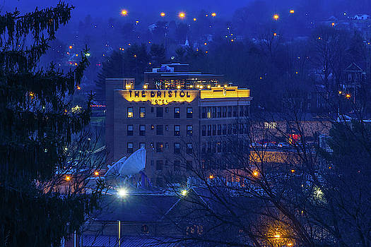 The Bristol Hotel and Surroundings in the Blue Hour by Greg Booher