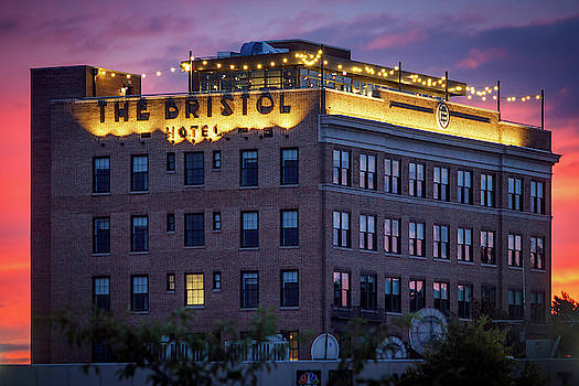 The Bristol Hotel at Sunset by Greg Booher
