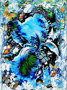 The Butterflies Blue Iris by Debra Lynch