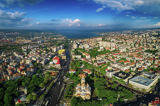 The Cathedral of the Assumption in Varna, Aerial view by Valentin Valkov