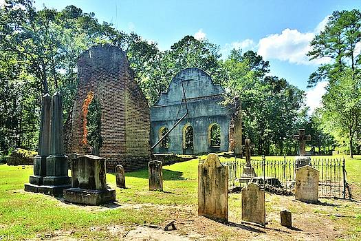 The Cemetery At Pon Pon Chapel Of Ease Jacksonboro South Carolina by Lisa Wooten