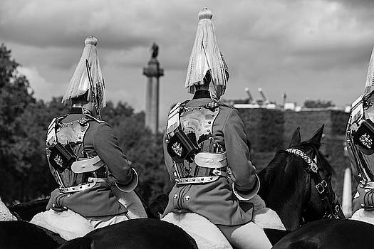 Toby McGuire - The Changing of the Horse Guard London UK United Kingdom Black and White