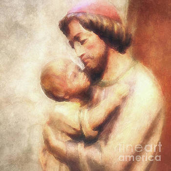 The Child Jesus and Saint Joseph by Davy Cheng