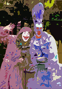 The Clowns Abstract by Cathy Harper