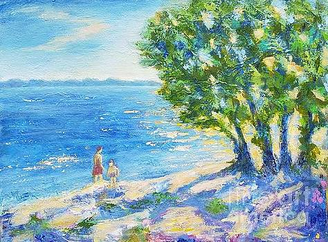 The coast of the Danube river by Olga Malamud-Pavlovich