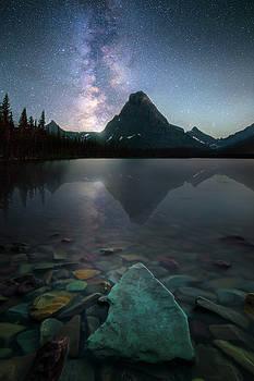 The Crown Jewels / Two Medicine Lake, Glacier National Park  by Nicholas Parker