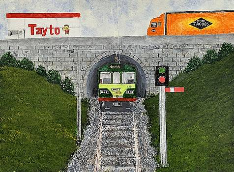The Dart Train Painting by Martin Dardis