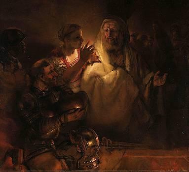 The Denial of St Peter by Rembrandt van Rijn