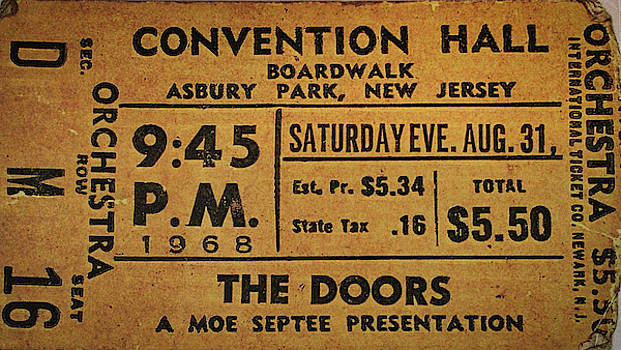 The Doors Ticket Stub by Todd Dunham