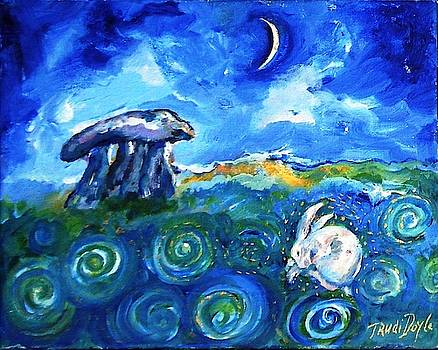 Dreaming Hare at Haroldstown Dolmen  by Trudi Doyle