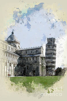 The Duomo and The Leaning Tower by John Edwards