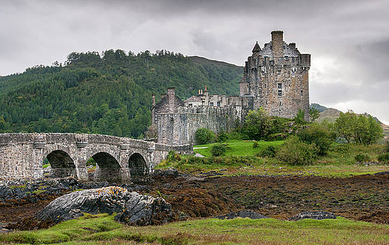The famous Eilean Donan Castle in the lake of Loch Alsh  at the  by Michalakis Ppalis