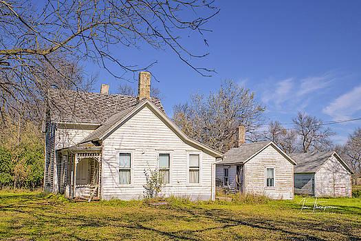 The Farmhouse, Washhouse and Garage by Jim Thompson