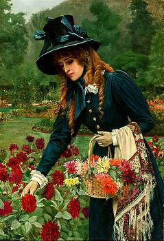 The Flower Girl by Herbert Gustave Schmalz