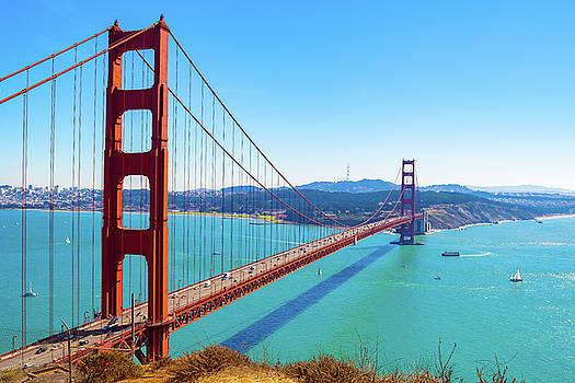 The Golden Gate Bridge I V by Debbie Ann Powell