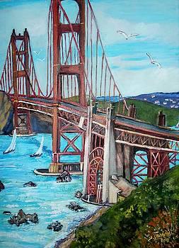 The Golden Gate Bridge by Teresa Dominici