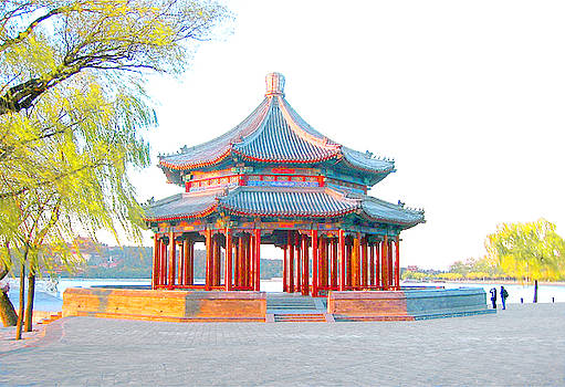 The Grand Pavilion at the Summer Palace in Beijing, China by Steve Clarke