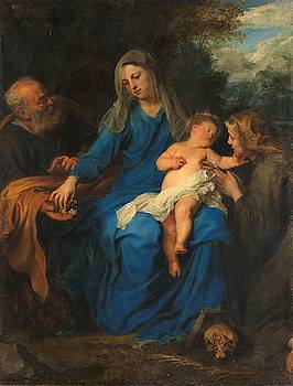 The Holy Family with Mary Magdalene by Anthony van Dyck