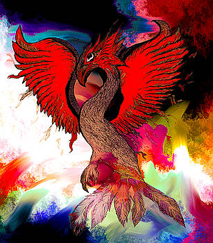 The Immortal Phoenix by Abstract Angel Artist Stephen K
