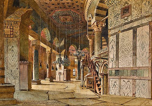Carl Haag - The Inner Corridor of the Dome of the Rock, Jerusalem