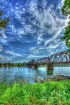 The IronMan Sixth Street Trestle Bridge Augusta Georgia Art by Reid Callaway