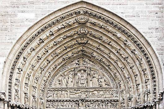 The judgement portal of Notre Dame de Paris by Delphimages Photo Creations