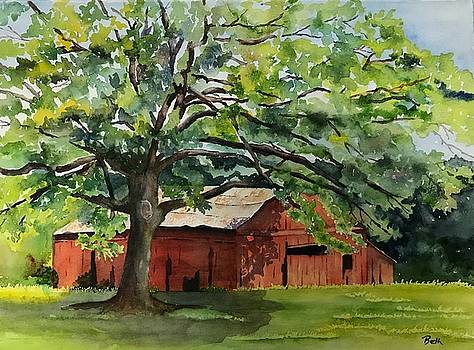 The Landmark Red Barn by Beth Fontenot
