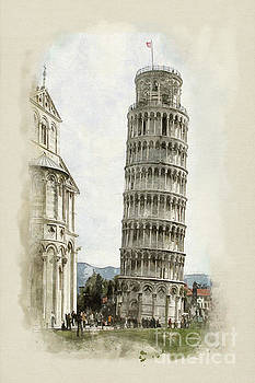 The Leaning Tower  by John Edwards